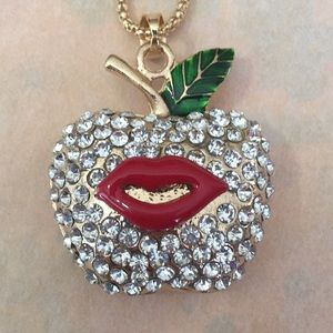 Betsey Johnson Jewelry - Lovely apple 🍎 with lips 👄